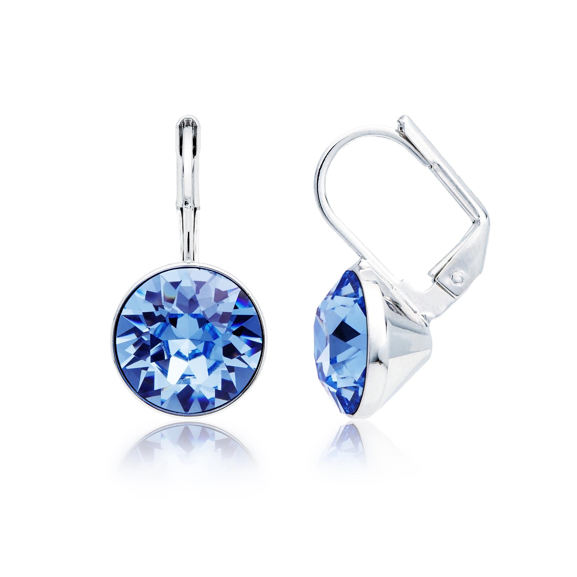 d3c8f6c436c392 Bella Earrings with 4 Carat Light Sapphire Swarovski® Crystals ...