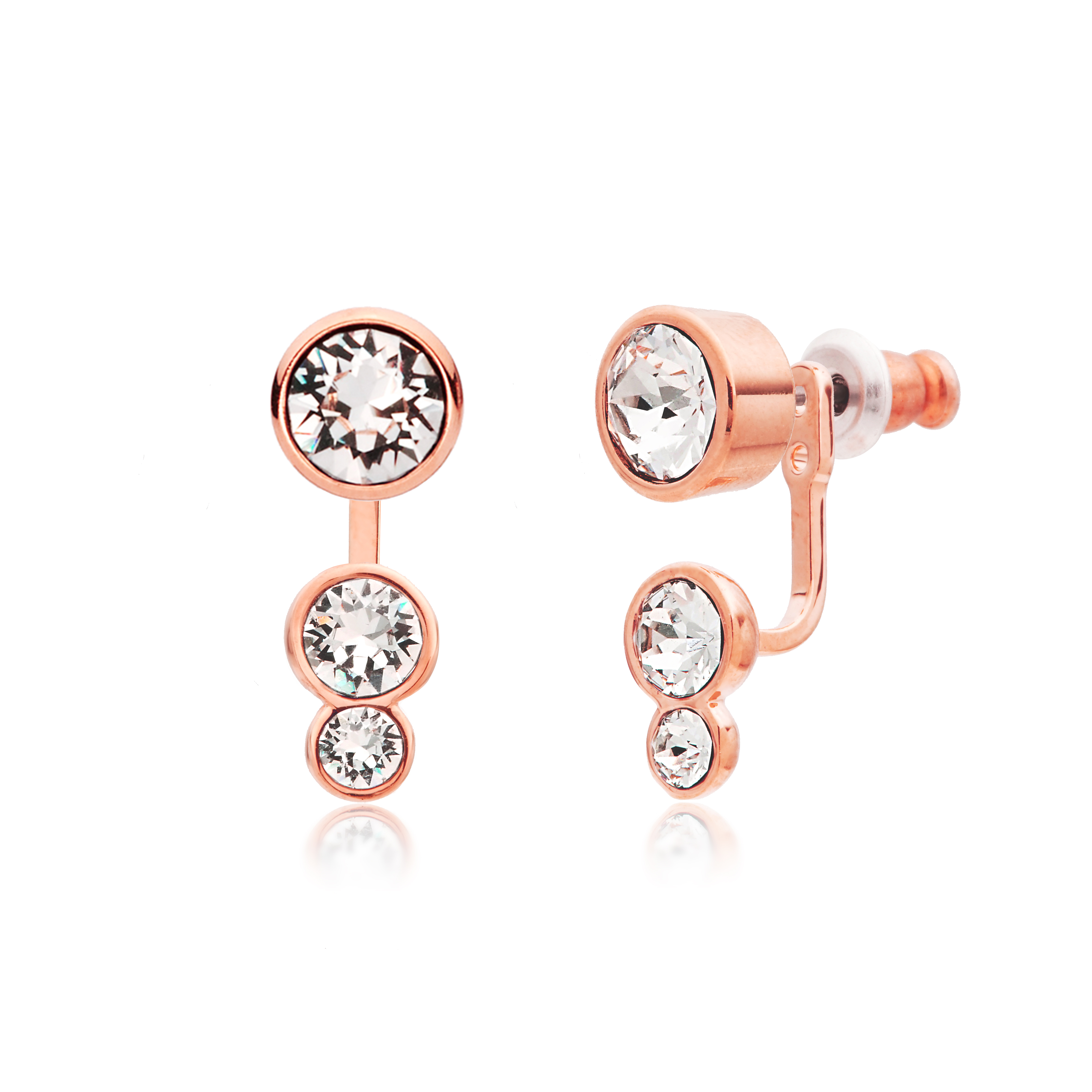 sterling type stud diamonique com earrings boxed set qvc product post of