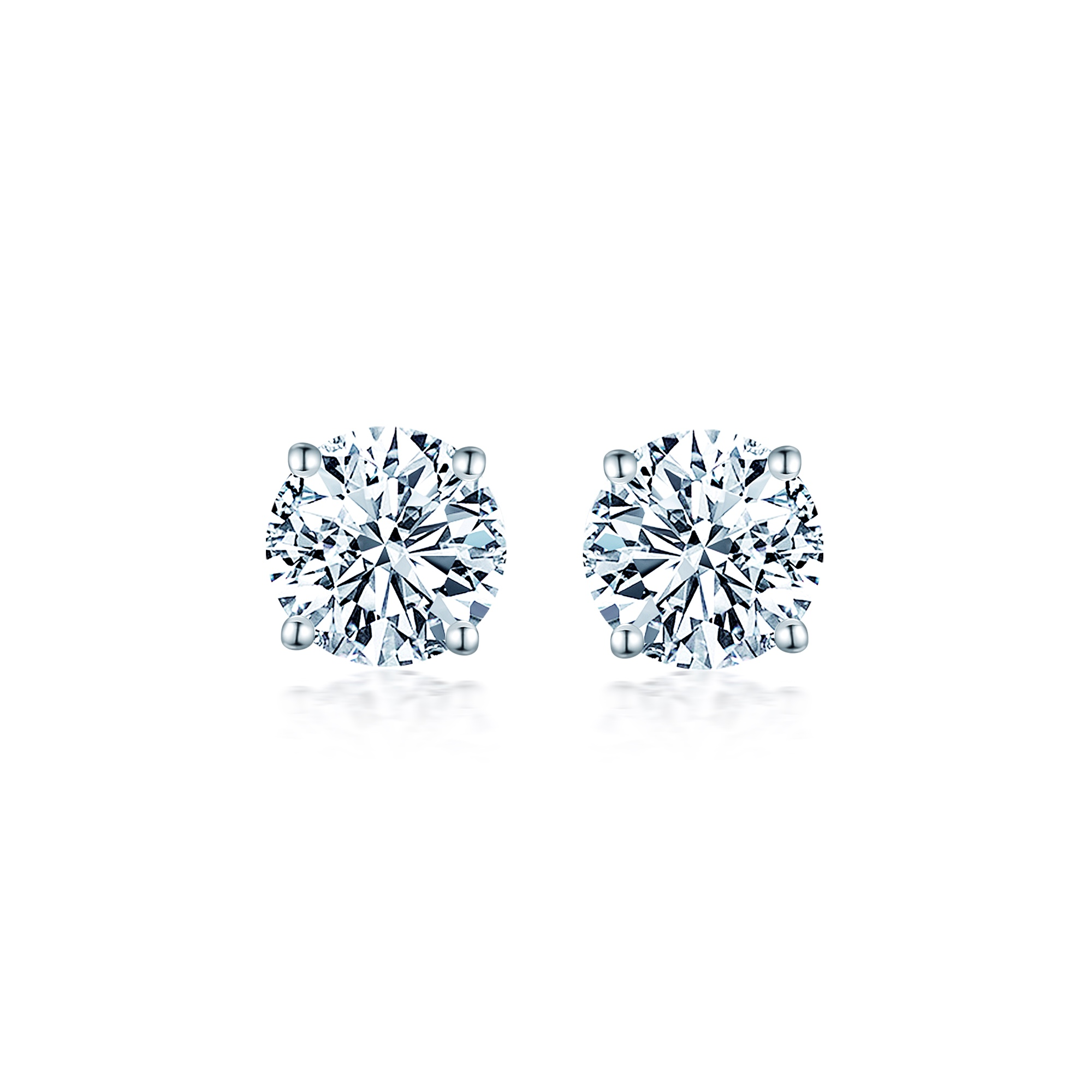 diamond studs aurora earrings brilliantcut cut solitaire claw sixclaw brilliant stud