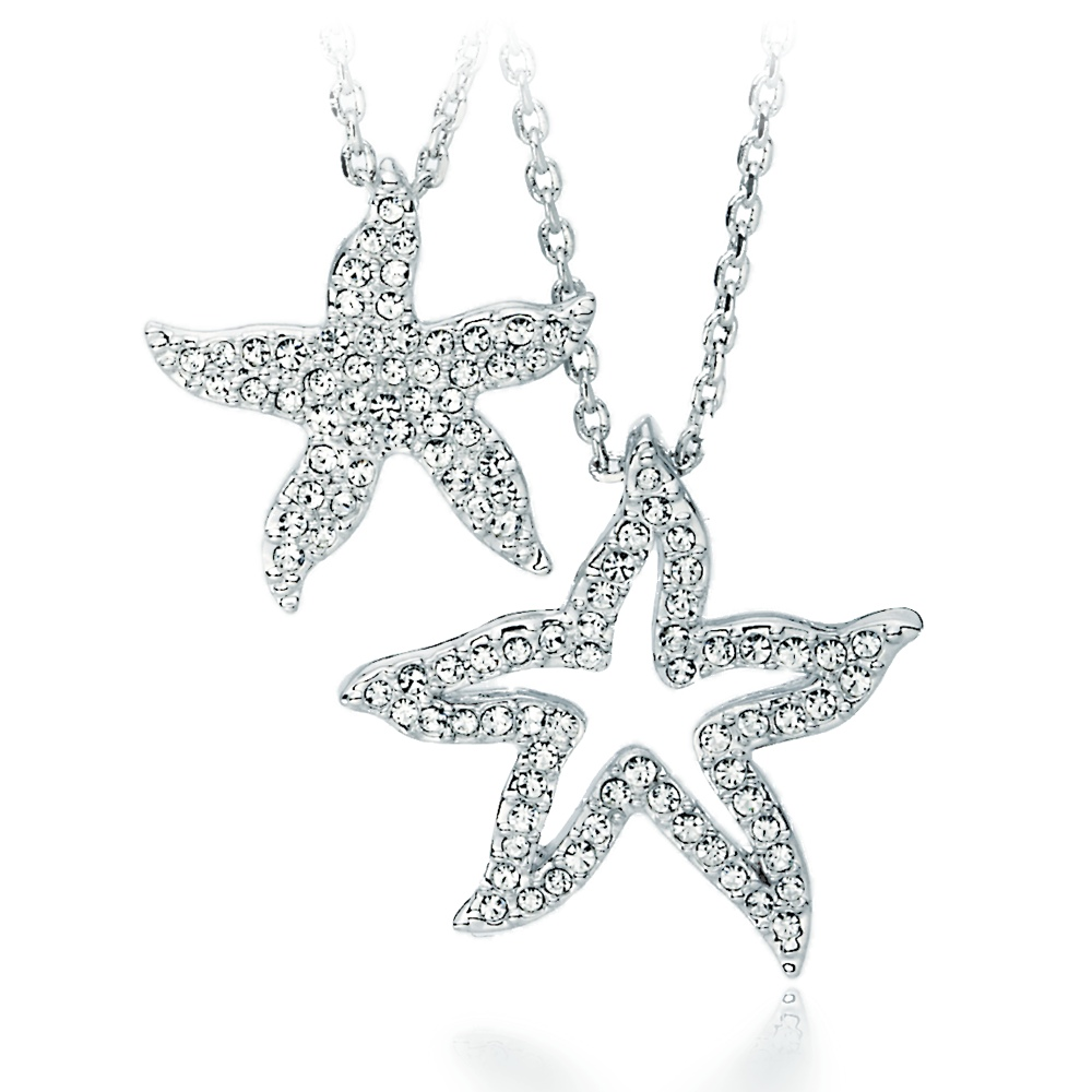 0157c5f8c Holly Starfish Double Pendant with Swarovski® Crystals