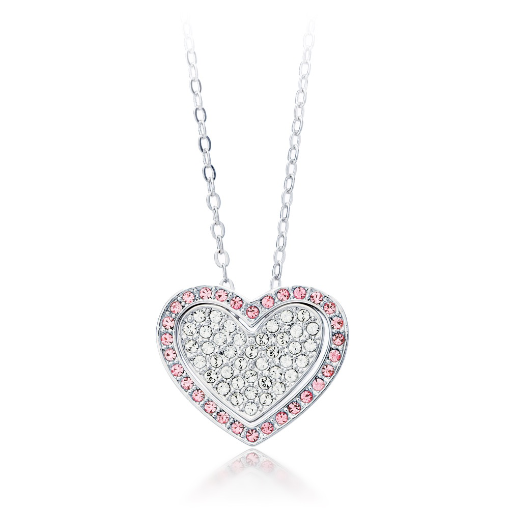 My Jewellery Story MYJS Cupidon Heart Love Rhodium Plated Ring with Clear Swarovski Crystals 2KbhrlvB