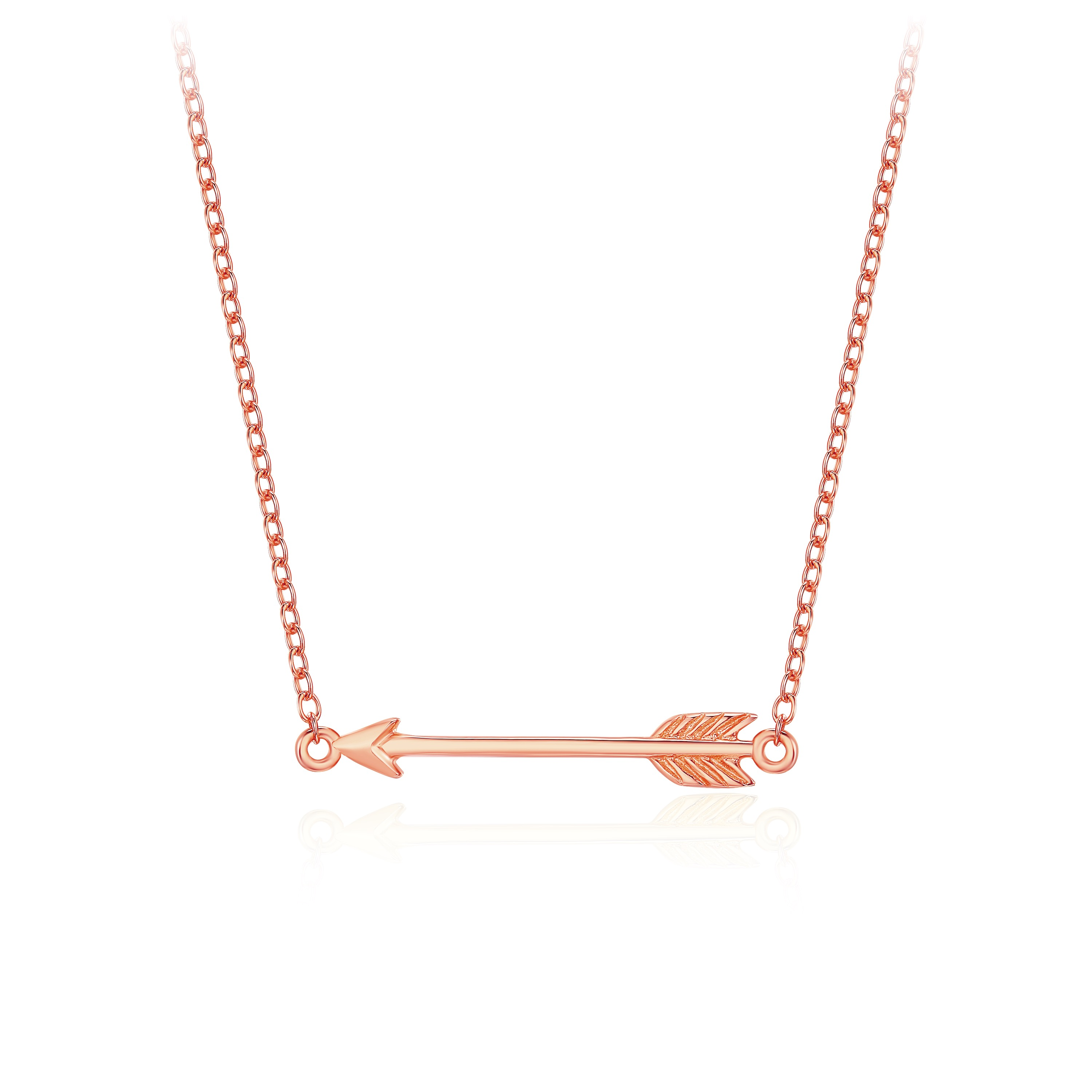 dbdd4f56c79f9 Arrow Necklace in Sterling Silver Rose Gold Plated